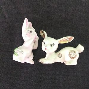 MCM kitschy bunnies with rhinestones made in Japan